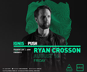 PUSH x Ignis present Ryan Crosson (Visionquest / US) - 16th August
