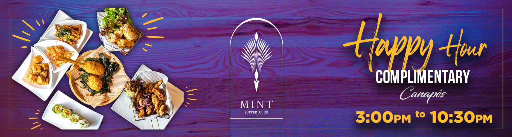 Mint Complimentary Canapes