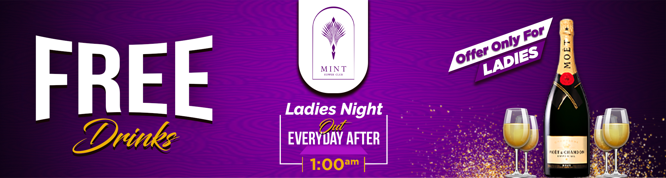 Mint Free drinks for ladies night out