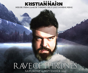 Kristian Nairn at zuma Hong Kong 2015